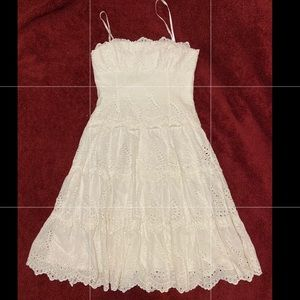 BCBG MAXAZRIA white strapless dress sz 4
